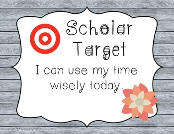 Scholar Target Posters! *Botanicals* Help kids be the BEST scholars they can be!