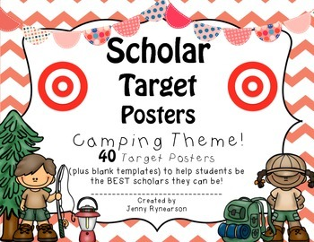 Scholar Target Posters! ~Camping Theme~ Awesome for Back-to-School!!!