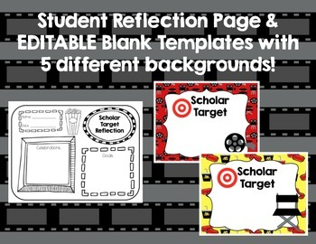 Scholar Target Posters! ~Hollywood Theme~ Awesome for Back-to-School!!!