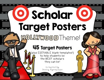 Scholar Target Posters! ~Hollywood Theme~ Awesome for Back