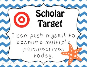 Scholar Target Posters! ~Nautical Theme~ Awesome for Back-to-School!!!