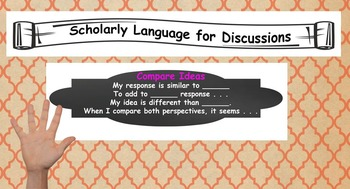 Scholarly Language Poster and Powerpoint