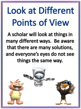 Scholarly Pursuits Classroom Attribute Posters S Kaplan GATE