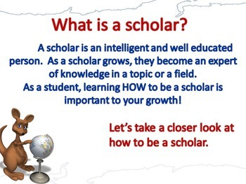 Scholarly Pursuits: How to be a Scholar PowerPoint, Posters, and Activities