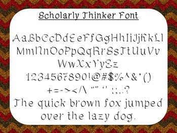 Scholarly Thinker Font {True Type Font for personal and co