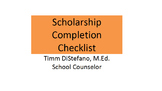Scholarship Completion Checklist