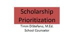 Scholarship Prioritization Tool