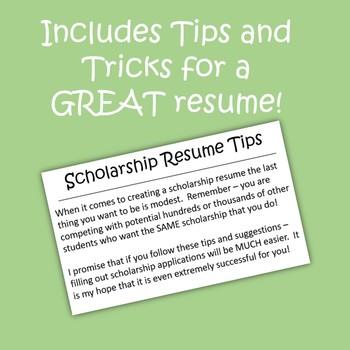Scholarship Resume Guide
