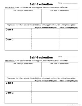 Scholarship Self-Assessment for Students