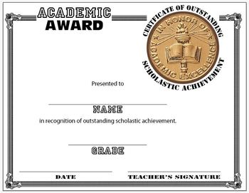 Scholastic award certificate template by coaching history tpt scholastic award certificate template yadclub Image collections