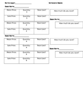 Scholastic Book Activity - Decimals
