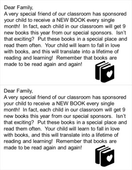 Scholastic Book Club- A Book for Every Child Every Month