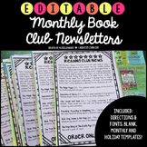 Book Clubs Monthly Newsletter {Editable}