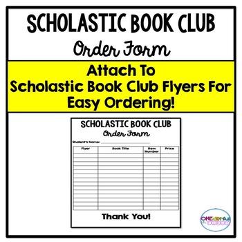 Scholastic Book Club Order Form