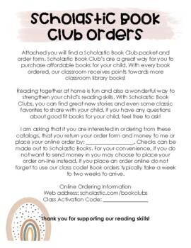 Scholastic Book Club Order Form Attachment