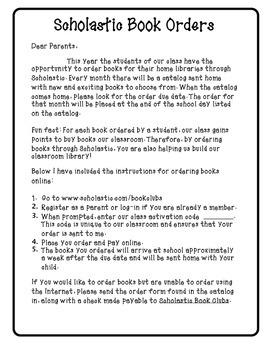 Scholastic Book Club Order Instructions