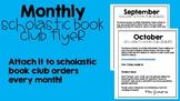 Scholastic Book Club Order Parent Letter