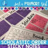 Scholastic Book Club Order Sticky