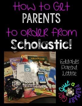 Scholastic Book Club Parent Letter