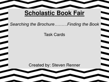 Scholastic Book Fair Brochure Task Cards Spring 2016