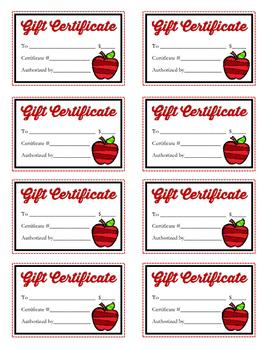 Scholastic Book Fair Gift Certificates (Generic)