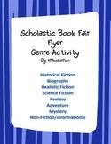 Scholastic Book Fair Flyer Genre Activity by KMediaFun