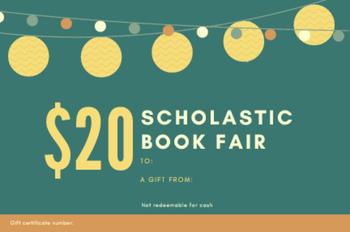 Scholastic Book Fair Gift Certificates