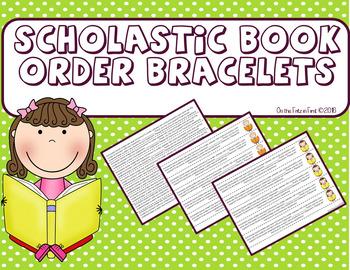 Scholastic Book Order Bracelets