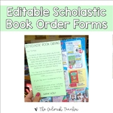 Editable Scholastic Book Order Forms