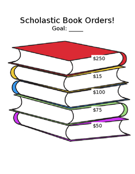 Scholastic Book Order Graphic Chart
