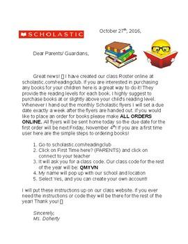 Scholastic Book Order Instructions