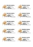 Scholastic Book Order Labels