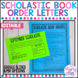 Scholastic Book Club Order Letter to Parents