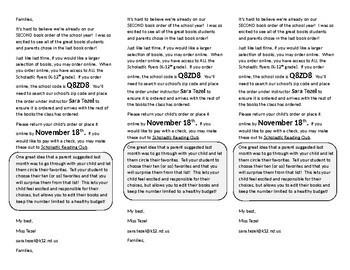 Scholastic Book Order Notes (GROWING BUNDLE)