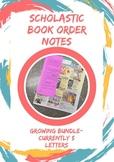Scholastic Book Order Notes