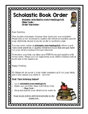 Scholastic Book Order Online Note for Parents- Print and go
