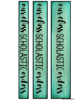 Scholastic Book Order Organization Binder Kit (Editable)