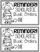 Scholastic Book Order Reminder Notes
