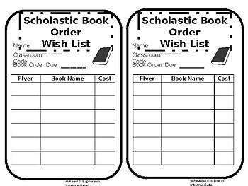 Scholastic Book Orders Students Wish List