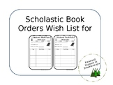 Scholastic Book Orders Students Wish List