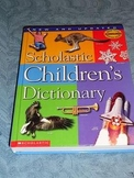 Scholastic Children's Dictionary 2002 edition; hard cover