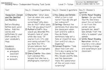 Scholastic Guided Reading Short Reads Fiction Menu 2nd Grade Bundle