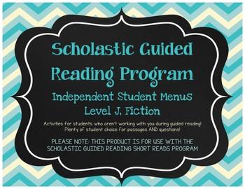 Scholastic Guided Reading Short Reads Fiction Menu Level J