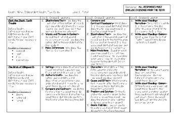 Scholastic Guided Reading Short Reads Fiction Menu Level K