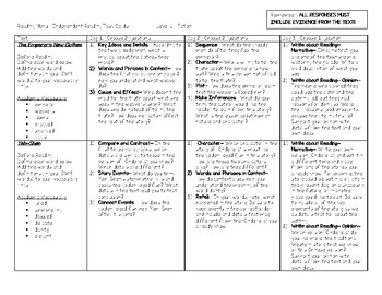 Scholastic Guided Reading Short Reads Fiction Menu Level L