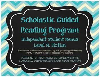 Scholastic Guided Reading Short Reads Fiction Menu Level M