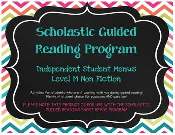 Scholastic Guided Reading Short Reads Nonfiction Menu Level M