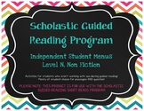 Scholastic Guided Reading Short Reads Nonfiction Menu Level N