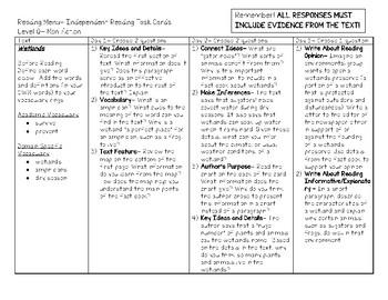 Scholastic Guided Reading Short Reads Nonfiction Menu Level Q
