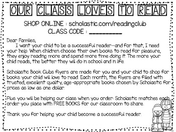 Scholastic Letter Home
